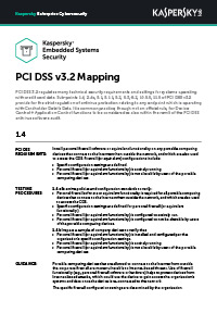 PCI DSS v3.2 Mapping: Innebygde systemer