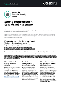 Kaspersky Endpoint Security | Cloud datablad