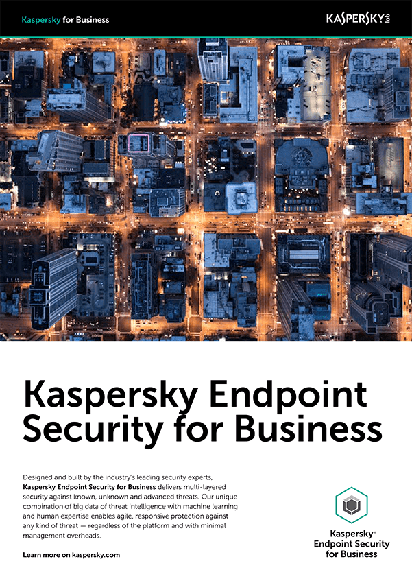 KASPERSKY ENDPOINT SECURITY FOR BUSINESS DATABLAD
